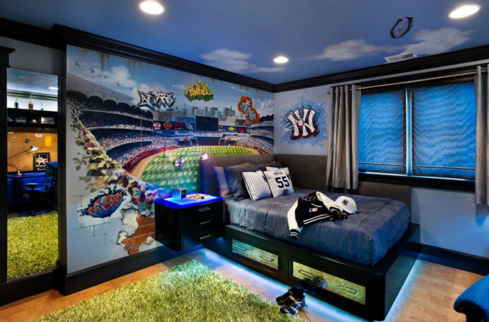 Fun Media Room Ideas For The Sports Fans home Fun Media Room Ideas
