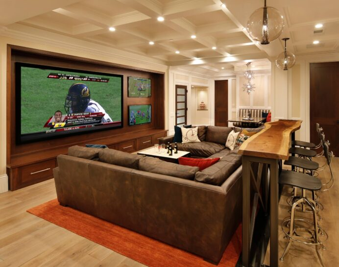 family-room-home-theater-and-bar-trg-architecture-interior-design-img home Fun Media Room Ideas