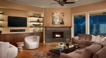 Beautiful Living Room with a Corner Fireplace Pictures Fireplace Cozy Corner Fireplace Ideas