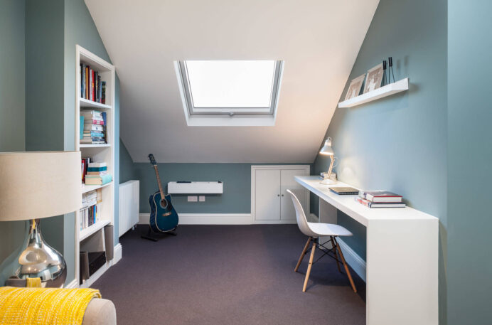 A converted loft office will often have a number of nooks and crannies created by the structural supports and the angle of the roof, so use these to build in shelving for books and files. png home Loft Conversion Ideas for Your Home