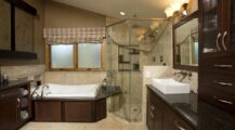 Couple's search for personal bathing retreat finds an inspired collaborator Bathroom Inspired Bathroom Backsplash Ideas
