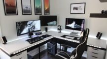 Masculine Home Office Ideas & Inspirations home Cool Home Office Ideas for Men