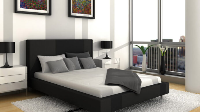 Modern and Contemporary Gray and White Wallpaper bedroom Modern Grey Bedroom Ideas