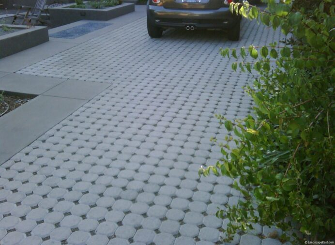 Permeable Paving Aids in Sustainable Portland Landscaping Garden Innovative Driveway Ideas
