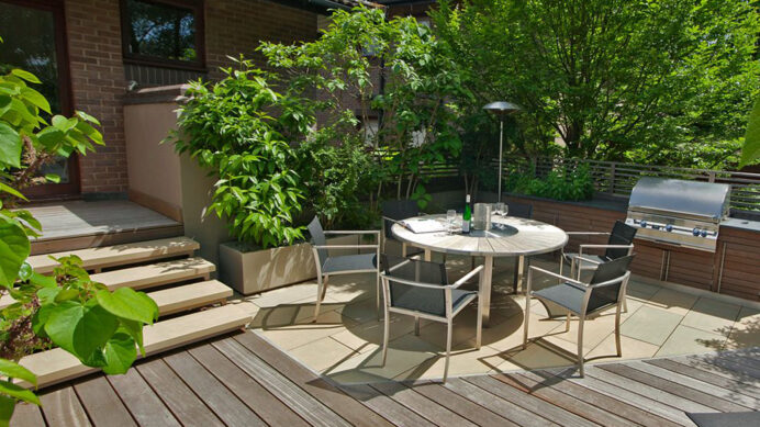 small decking ideas clever designs for tiny gardens with grass Deck Inspired Small Deck Ideas