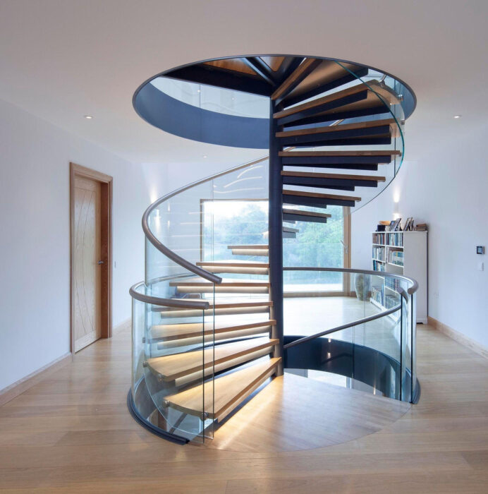 China Glass Spiral Staircase with Stainless Steel Raillling Staircase Staircase Design Ideas