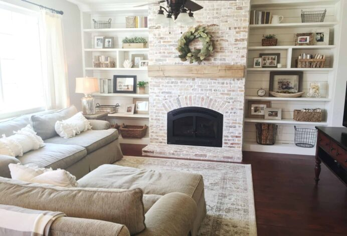 Cozy Fireplace ideas to bring the holidays directly to your living space Fireplace cosy Brick Fireplace Ideas
