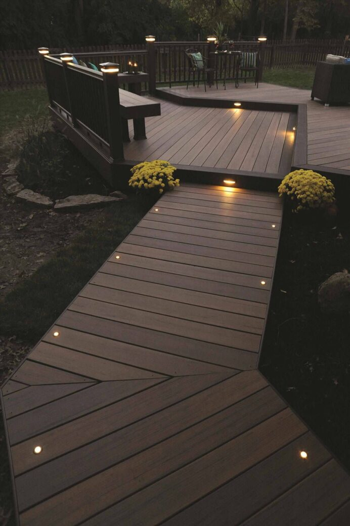 Creative Landscape Lighting Ideas to Give a New Look to Your Outdoor Space Backyard Deck Creative Deck Lighting Ideas