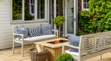 Ideal-Home-Patio-with-firepit Deck Inspired Small Deck Ideas