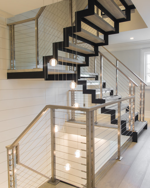 Multi Level Modern Floating Staircase