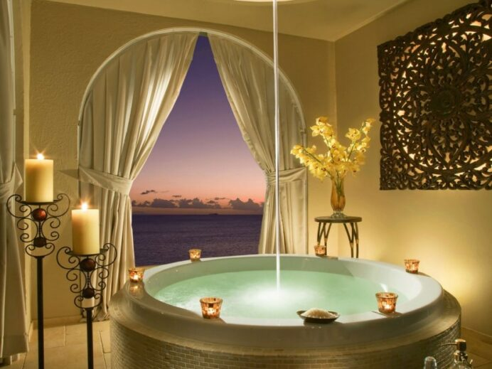 Relaxing-Bathroom-Decor-For-Minimalist-Home Bathroom Relaxing Bathroom Tub Ideas