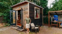 Ultra-simple tiny house built home interior Dream Big While Small  House