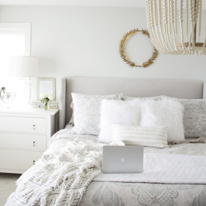 gray and white bedroom decor - Bright Fresh.png bedroom Clean White Bedroom Ideas