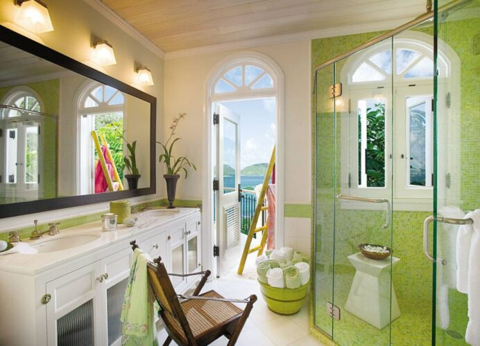 green-bathroom-punchy-hue-spa-ideas-better-decorating-bible-blog-stay-cation Bathroom Spa-Style Bathrooms