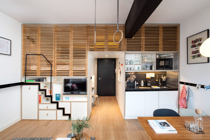 Awesome Small Studio Apartments With Lofted Beds Apartment Studio Type Apartment Inspiration