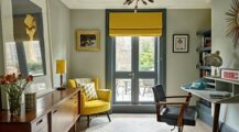 Beautiful yellow desain Home Office Ideas Home Office Modern Style Home Office Design