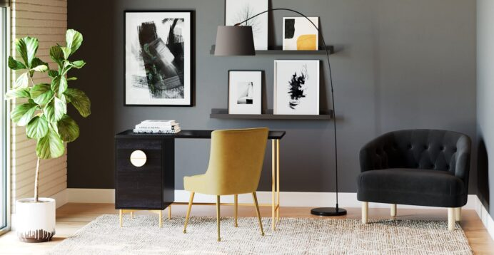 Home Office Layout How to Design Your Workspace Living Room Office Space Design in Your Living Room