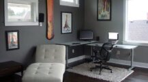 Modern-Interior-Design-and-there-are-chairs-and-tables-as-well-as-sofas-and-wooden-picture-frames-and-window-glass-Inspiration-Home-Office-Design-Ideas Home Office Modern Style Home Office Design