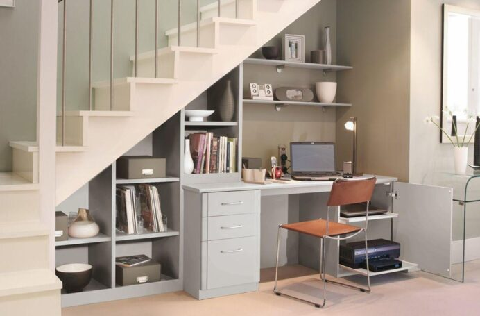 Office Space Design in Your Living Room Utilizing Forgotten Spaces at Home