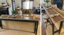 Prepare the table behind the sofa,png Living Room Office Space Design in Your Living Room