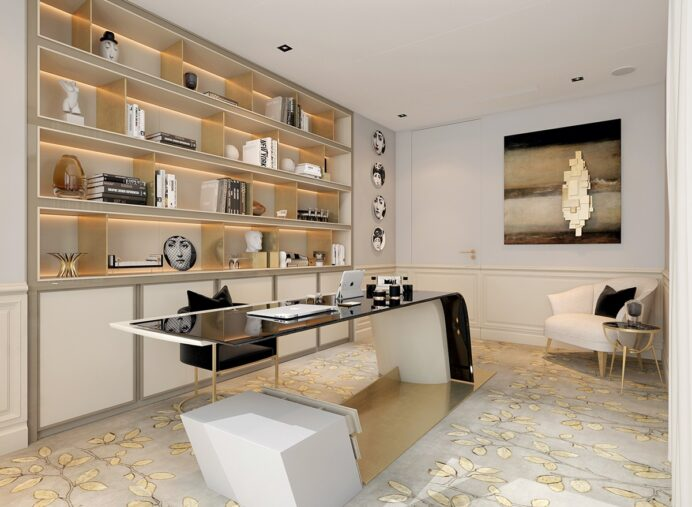 art-deco-office-inspiration Home Office Modern Style Home Office Design