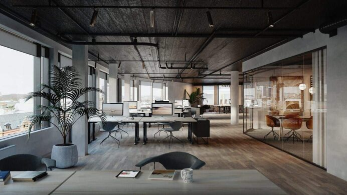office-trends-2021-open-space-interior Home Office Office Interior Design Trends