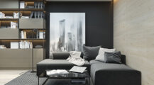 small-Studio Apartments With Beautiful Design black-and-white Apartment Studio Type Apartment Inspiration